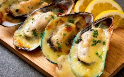 Huîtres gratinées aux épinards et bacon